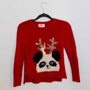 red justice christmas sweater